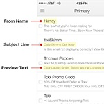 Text Preview nelle E-mail